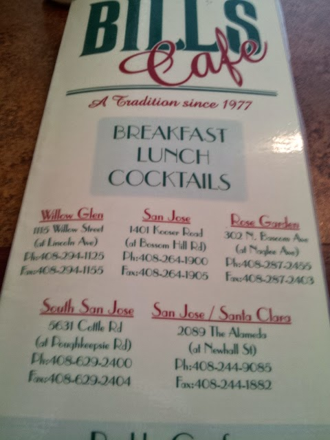 Bill S Cafe Pleasanton Menu