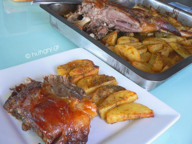 Lamb Shanks in the Oven with Potatoes