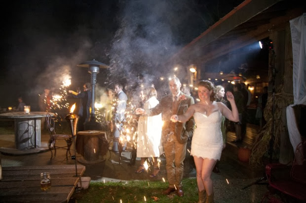 rustic wedding party time