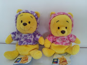 Disney Baby Pooh Beanie Bear. Disney Baby Pooh Beanie Bear in Purple Hood .