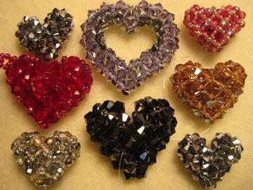 Rainbow and Rasta Puffy Heart Patterns - Sova-Enterprises.com