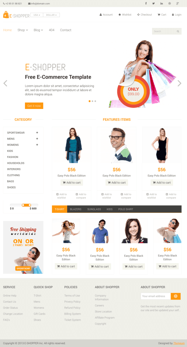 E-commerce HTML5 CSS3 Website Templates