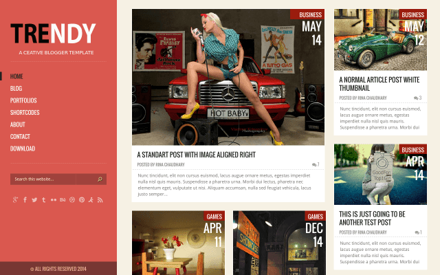 Trendy Responsive Blogger Template