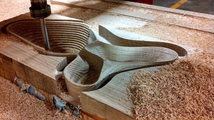 Pequeño estadio de madera
