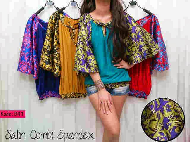(bhn spandek kombi satin,fit to XL,seri 4warna)