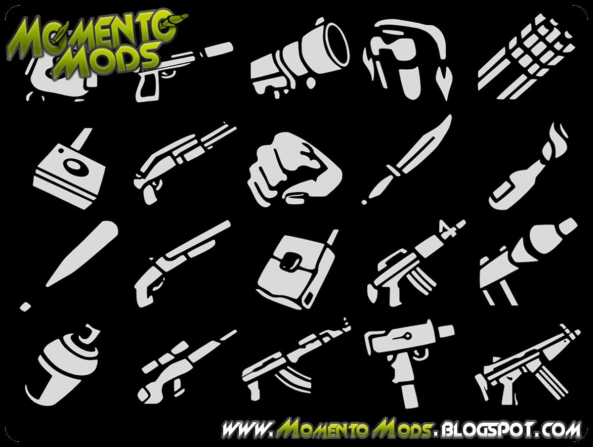 GTA SA - Ícones Das Armas Em HD