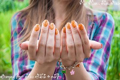 Stamping Nail Art: Kiko 356 Melon + stamping plate m64