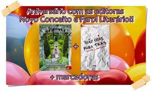 PROMOÇÃO: Aniversário com as editoras Novo Conceito e Farol Literário!!!