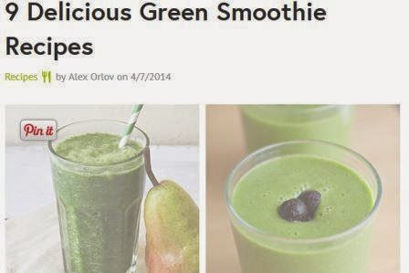 green smoothie website with recipes