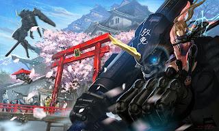 Girl Cheery Blossom Mecha Robot Anime HD Wallpaper Desktop PC Background 1813