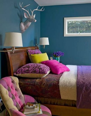 Teal Blue Bedroom Walls