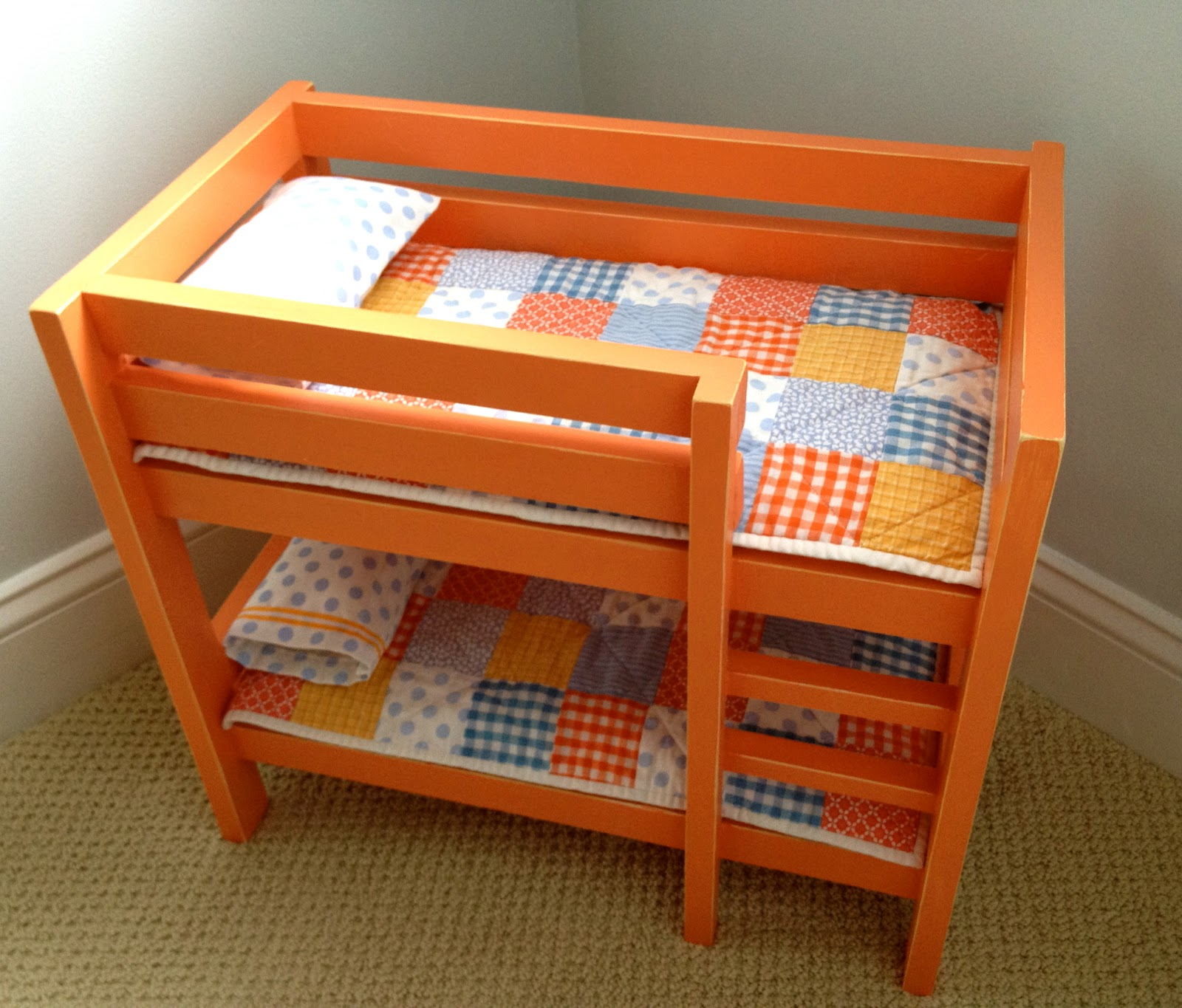 That 39 S My Letter DIY Orange Doll Bunk Beds