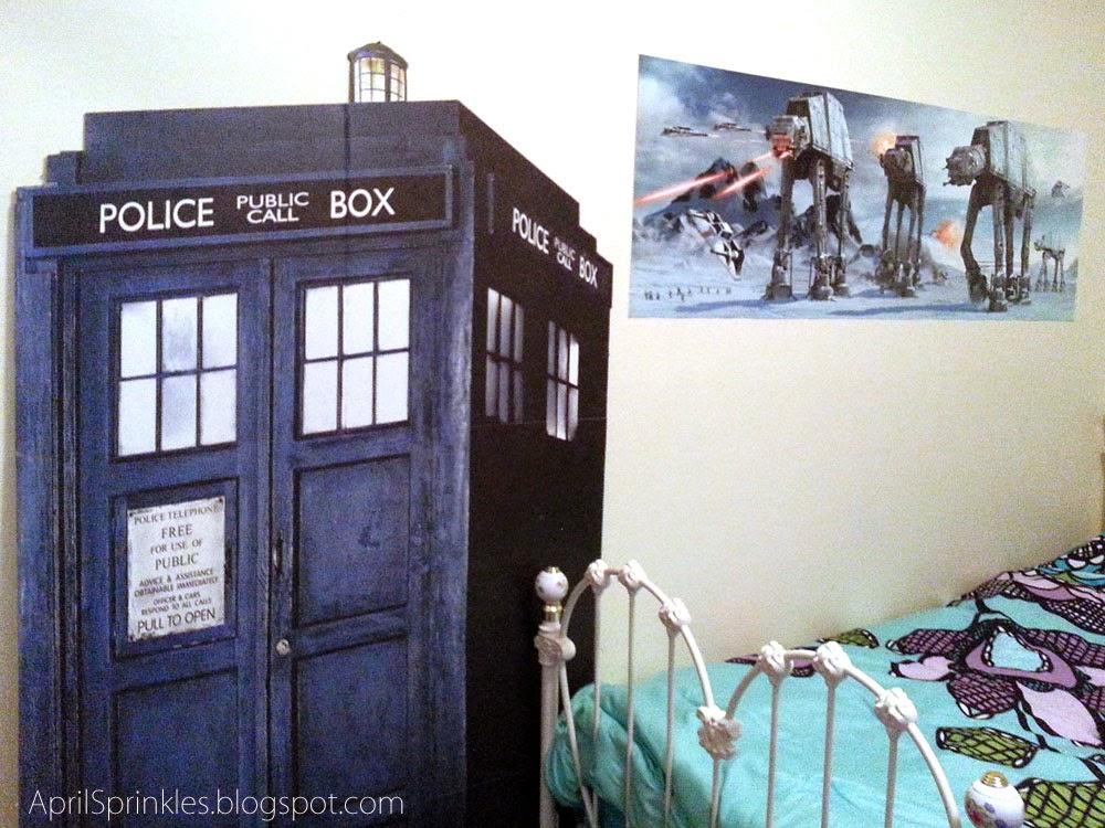 April Sprinkles: Geek space: TARDIS and Hoth Poster