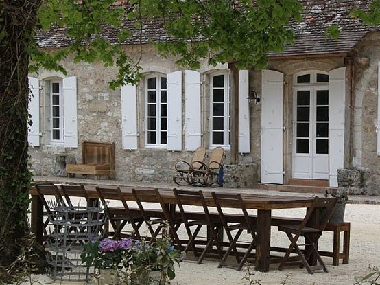 Our French Inspired Home: French Inspired Patio Table: Which is ...