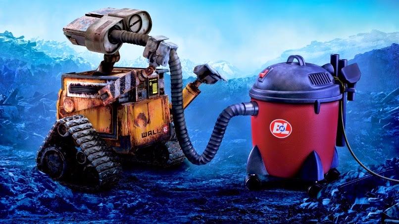 Wall-E y la aspiradora.