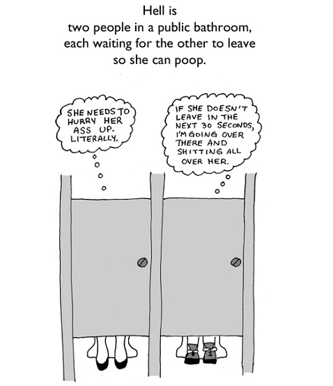 Funny cartoon of the day quothell isquot jenny39s noodle for Funny bathroom jokes