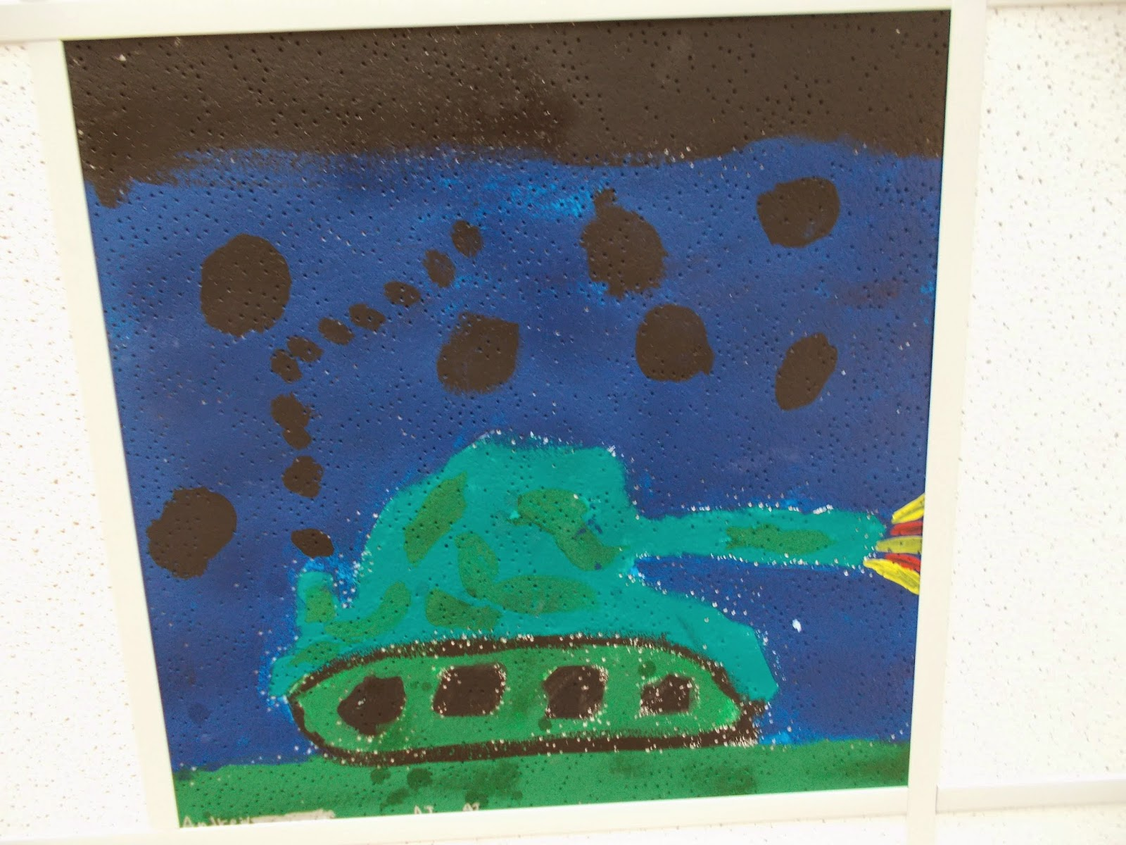 Mrs pierces polka dot spot art club painted ceiling tiles art club painted ceiling tiles i do an after school art club during the late fall and winter months the last two years weve been using the club to try dailygadgetfo Gallery