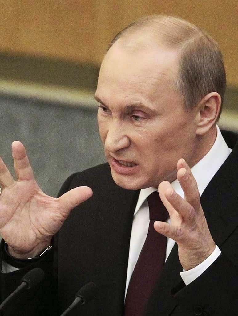 Putin ruge para ocultar sua fraqueza.