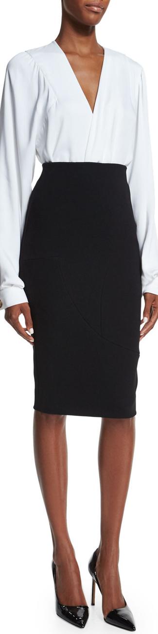 Victoria Beckham High-Waist Pencil Skirt