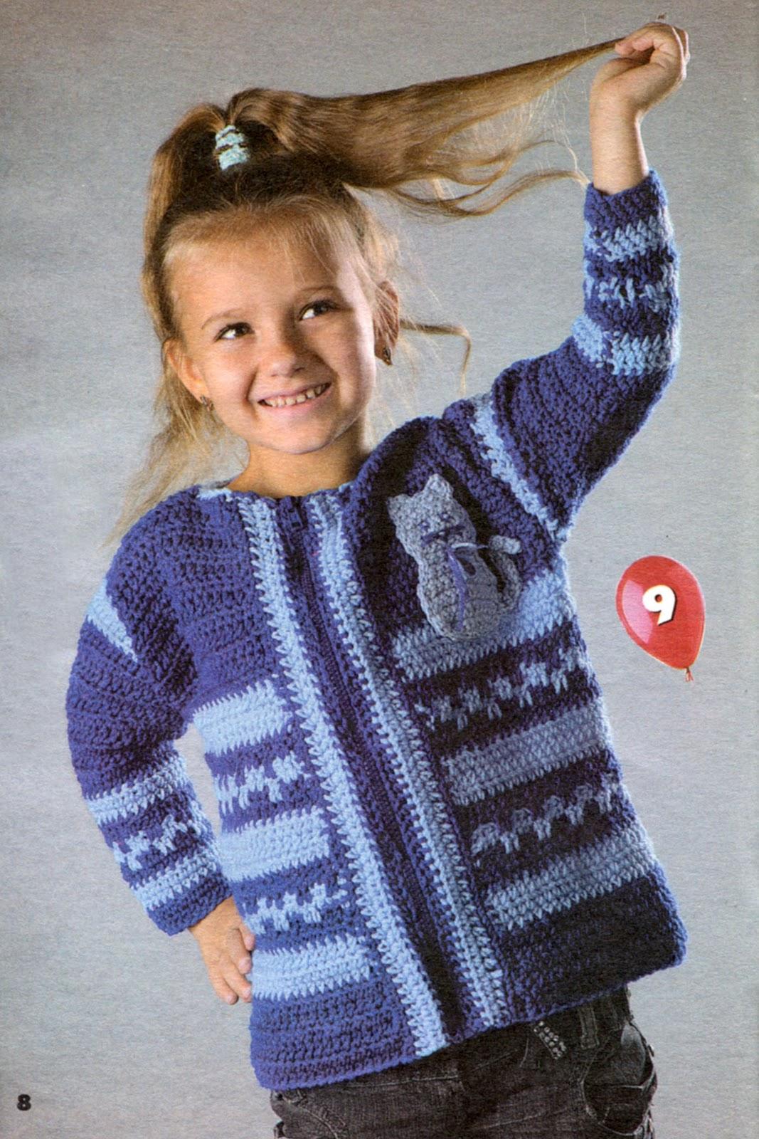 Вязание двухцветной кофточки на девочку