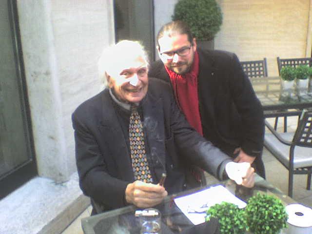 Luca Bagatin con Marco Pannella (marzo 2015)