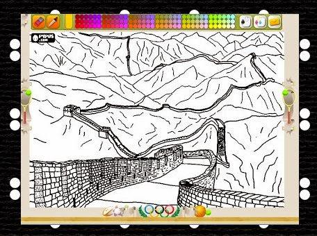 http://www.colorearjunior.com/dibujos-para-pintar-de-la-gran-muralla-china-antigua-fortificacion-para-proteger-la-frontera-norte-del-imperio-chino_3320.html