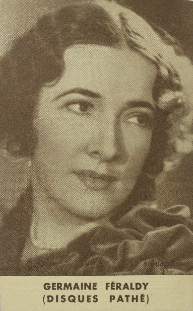 FRENCH SOPRANO GERMAINE FÉRALDY (1894 - 1949) CD