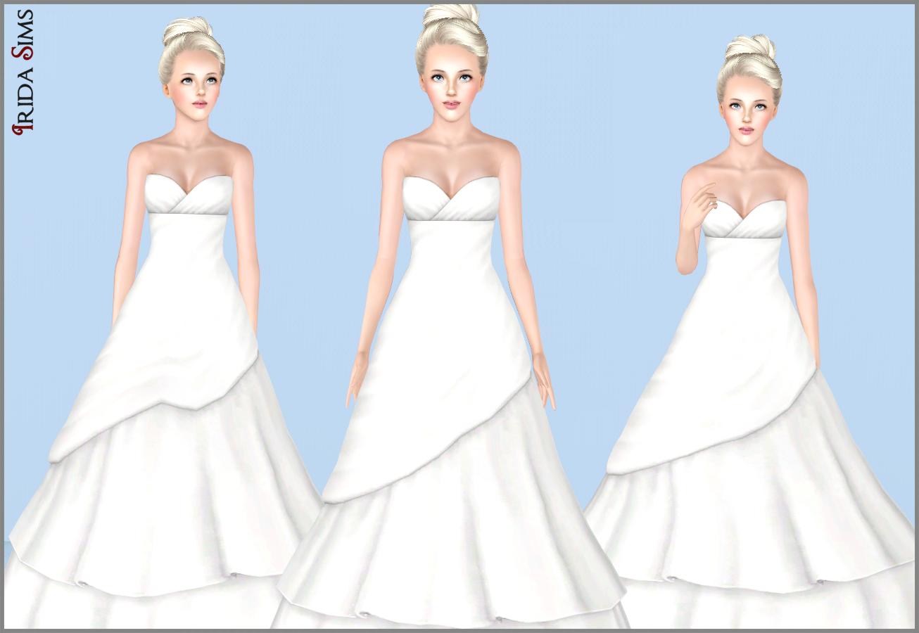My sims 3 blog wedding dress 19 by irida sims
