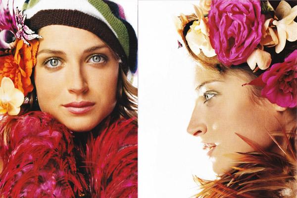 coach catalog 2006, flower beret