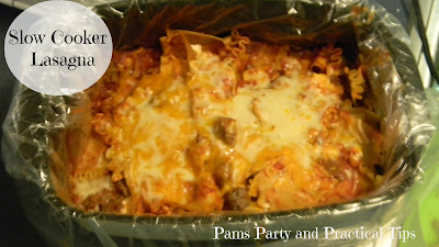 Slow cooker lasagna, a perfect meal for back to school nights
