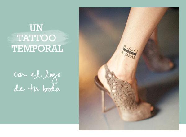 Boda Bella Un tatuaje temporal con el logo de tu boda