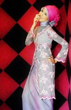 Desain kebaya muslim wisuda trendy nan simple