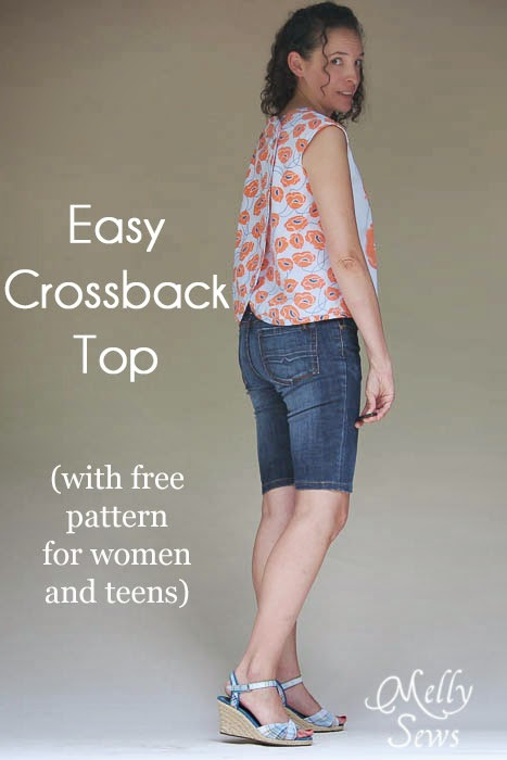 DIY crossback top sewing