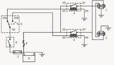 Rangkaian dan komponen lampu kepala gambar rangkaian lampu asfbconference2016 Images