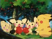 Pikachu con Pichus