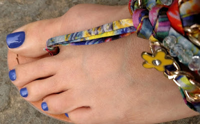 Foot with Orly Indie polish