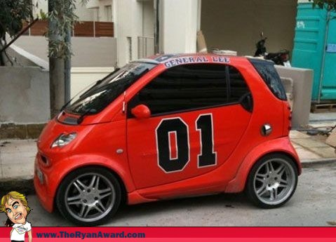 Electric General Lee Smart Car