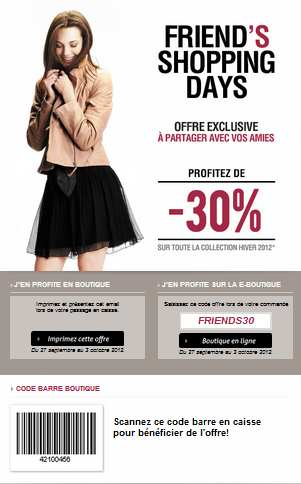 - 30% sur la collection Kookaï