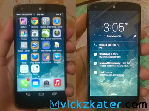 Tampilan iOS7 di Android-Home Screen & Lock Screen