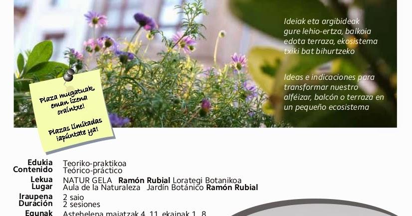 Barakaldo digital el aula del jard n bot nico celebra un for Talleres jardin botanico