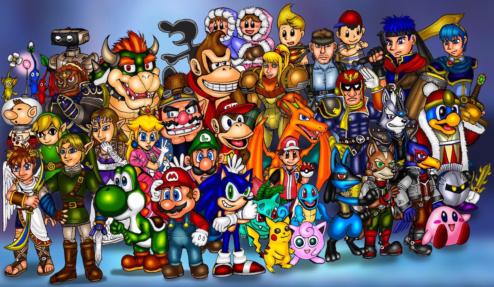 Smashing Characters - Super Smash Bros. Brawl Wallpaper