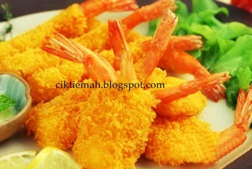 Resepi masakan Udang goreng tempura.