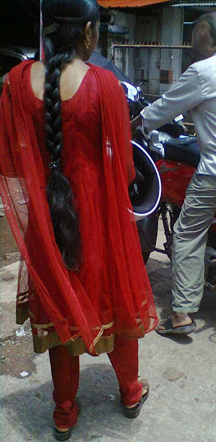 Oily Braid made by Indian college girl.