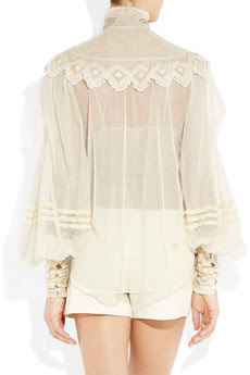 Silk-tulle Blouse with Ornate Therese - back