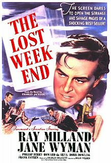 The Lost Weekend Film (1945), starring Ray Milland not the same as Rangers lost weekend of Jan19-20, 2013