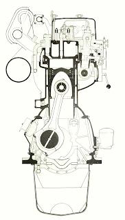 Разрез двигателя NOHAB Polar F26R