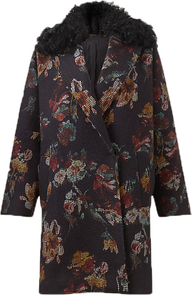 Monday Must - Jigsaw needle punch floral coat