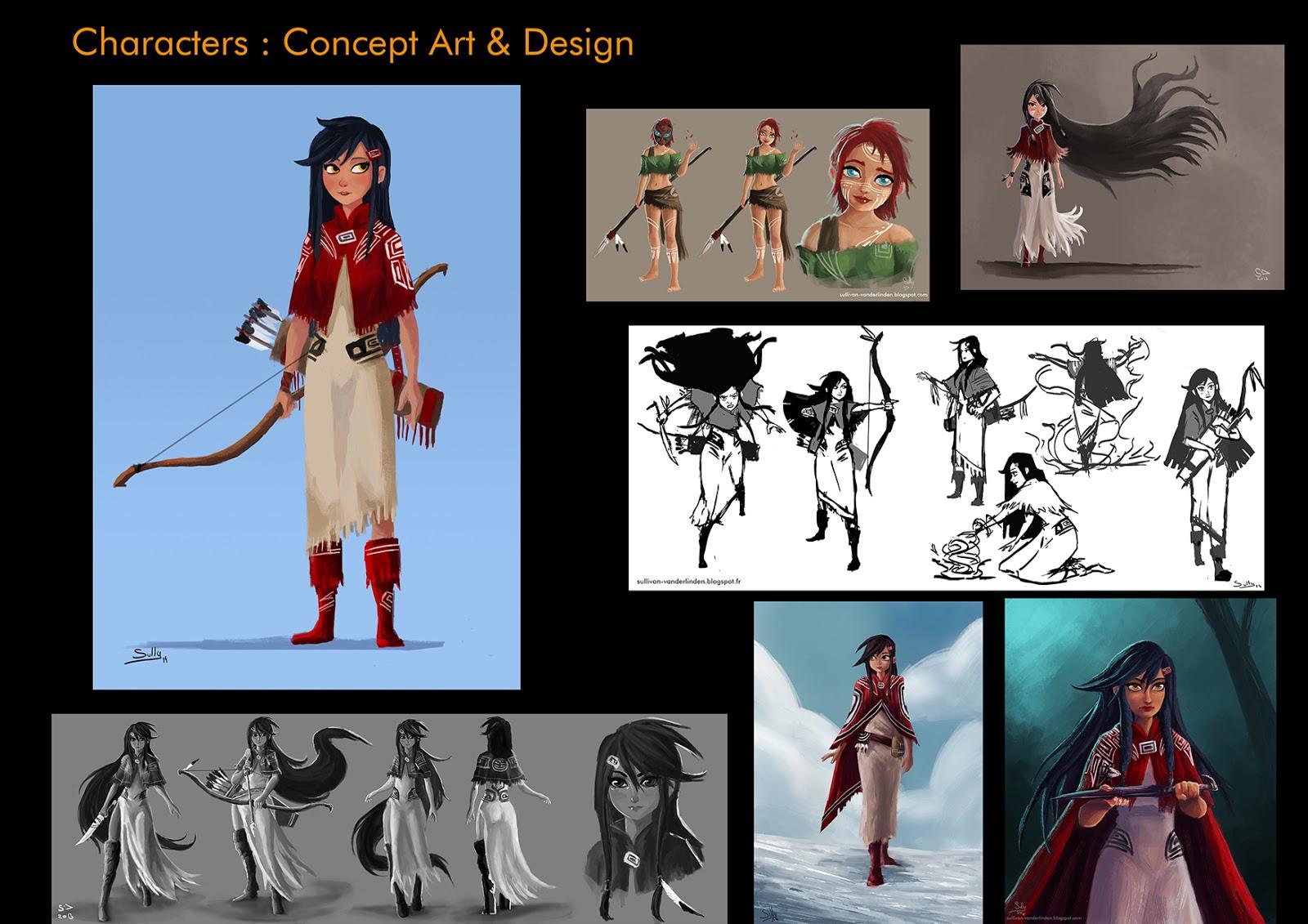 Sullivan vanderlinden portfolio character design naida