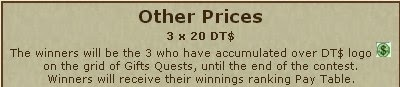 Gift Quest DT$ logo other prizes