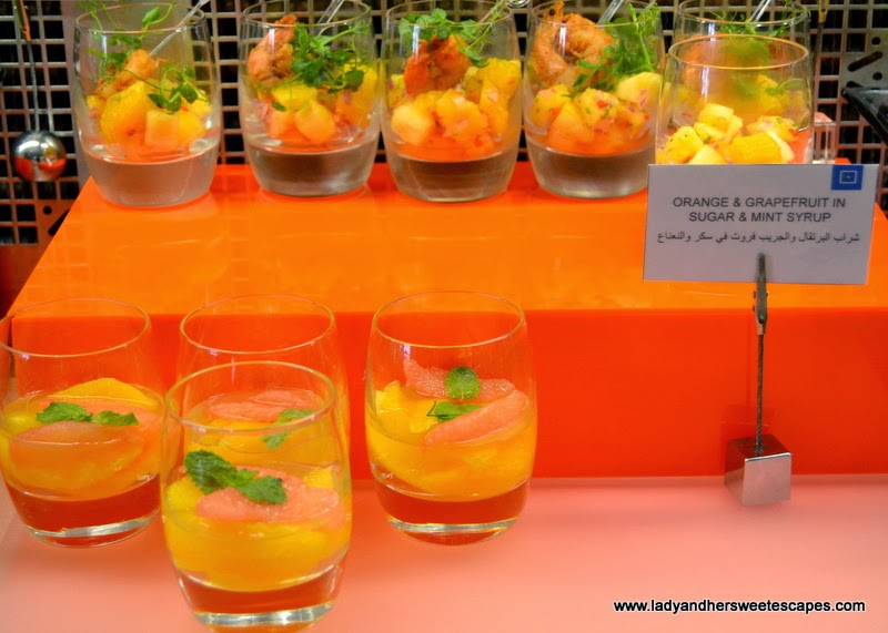 appetizers at BubblOrange Brunch in Centro Barsha